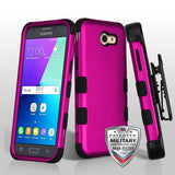 For Samsung Galaxy J3/Emerge/Sol2 TUFF Hybrid Phone Protector Case Holster Combo