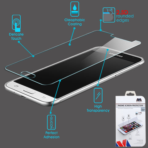 For Samsung Galaxy Sky/Sol/Express/Amp/J3 Tempered Glass Screen Protector (2.5D)