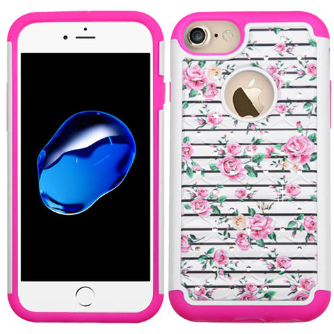 For iPhone 7 / 8 Flower FullStar Rugged Design Case Protector Skin Cover