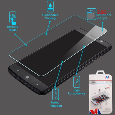For ZTE Sequoia, Blade Z Max Full Coverage Tempered Glass Screen Protector/Black