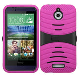 For HTC Desire 510 Hard Case +Silicone Protector Case Cover w/Stand