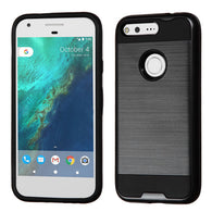 "For Google Pixel 5.0""  Brushed Hybrid Hard Impact Armor Protector Case Cover"