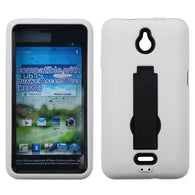 Black/White Case +Silicone Case Cover w/Stand for Huawei Ascend Plus H881C