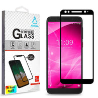 For Alcatel 3/T-Mobile Revvl 2 Full Coverage Tempered Glass Screen Protector Blk