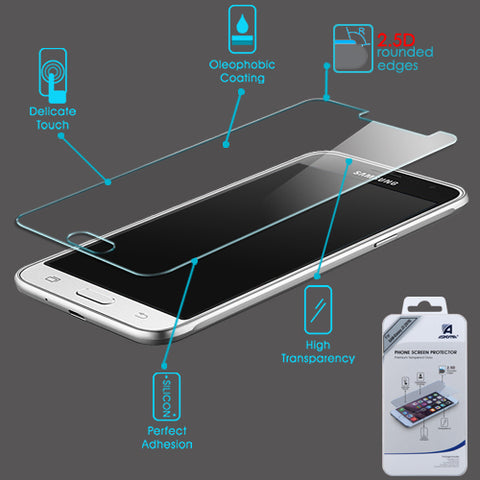 For Samsung Galaxy Luna/Express3/J1/Amp2 Tempered Glass Screen Protector (2.5D)