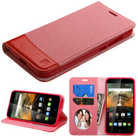 For 7046T One Touch Conquest Pink/Red MyJacket wallet (with card slot)
