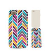 Chevron Zig Zag Teal/Pink Hard Hybrid Protector Cover Case for iPhone 5