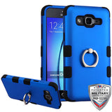 For Samsung On5 G550 TUFF Hybrid Armor Cover Case w/Metal Ring Stand