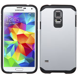 For Galaxy S5 Silver/Black Hybrid Astronoot Phone Protector Cover Case