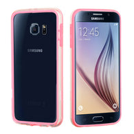 For G920 Galaxy S6 Pink/Transparent Clear MyBumper Phone Protector Cover