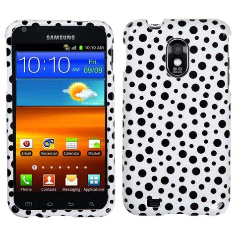 For Epic 4G Touch Galaxy S2 Black Mixed Polka Dots Phone Protector Cover