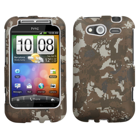 For Wildfire S CDMA, GSM Lizzo Digital Camo/Yellow Phone Protector Cover