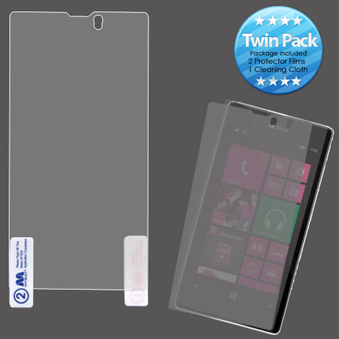 2x Clear Screen Protector Twin Pack for Nokia 521 Lumia 521