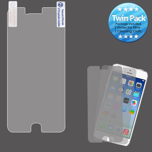 2x LCD Screen Cover Protector Film with Cloth Wipe for iPhone 6