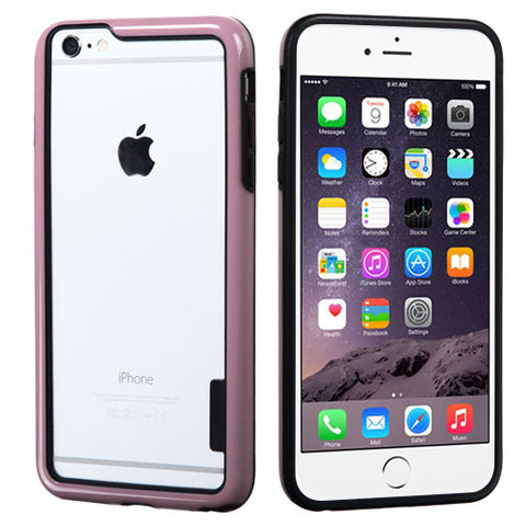 For iPhone 6s Plus/6 Plus Black/Solid Pink MyBumper Phone Protector Cover