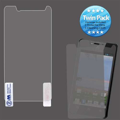 2x LCD Screen Cover Protector Film for HUAWEI: H881C Ascend Plus, Y301 Valiant