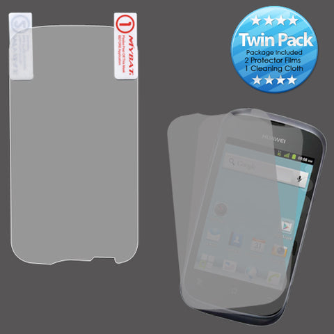 2x LCD Screen Cover Protector Film with Cloth Wipe for Huawei Ascend Y (M866)