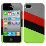 For iPhone 4s/4 MyColor Splash Gray/Red Hard Plastic Back Protector Cover Case