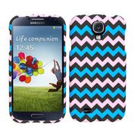 Chevron Zig Zag Pink/Blue Hard Slim Protective Cover Case for Samsung Galaxy S4