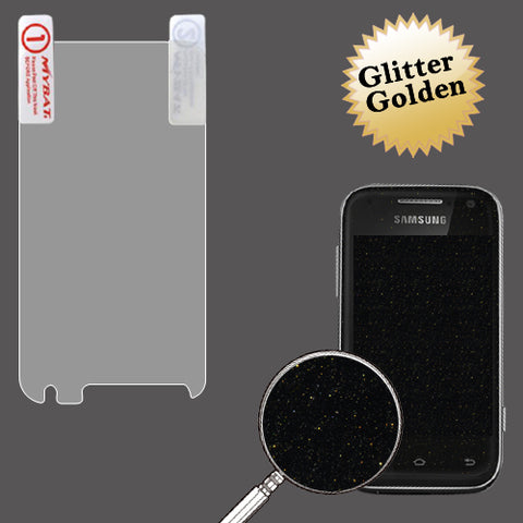 Gold Glitter LCD Screen Cover Protector Film w/ Cloth Samsung Galaxy Rush