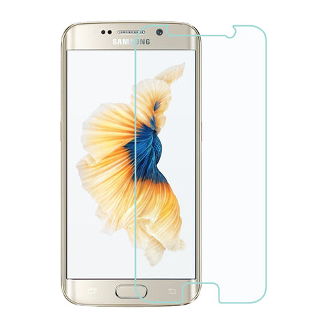 For Samsung Galaxy S6 Edge - Flat - Clear Tempered Glass Screen Cover