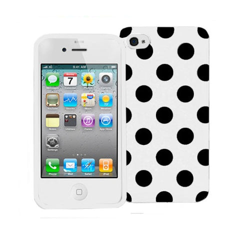 Decoro Silicone Polka Dots Protective Cover Case for iPhone 4 or 4S