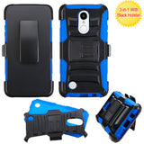 For LG Aristo/LV3 Advanced Armor Stand Protector Cover w/Holster