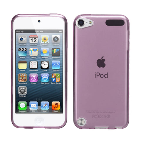 For iPod touch 6th GEN, 5th GEN T-Purple Silicone Skin Protector Cover Case