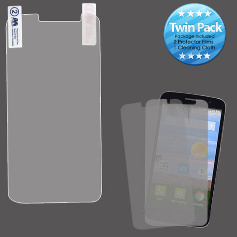 For Alcatel Pop Icon 2 LTE Strong Adhesion Screen Protector Film Twin Pack