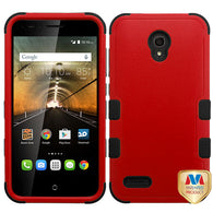 For 7046T One Touch Conquest Natural Red/Black TUFF Hybrid Phone Protector Cover