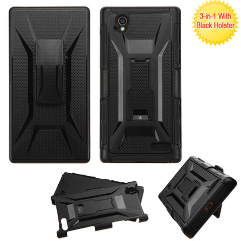 For N9518 Warp Elite Black Advanced Armor Stand Protector Cover (With Holster)