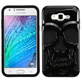 For Samsung Galaxy J7 Skullcap Hybrid Impact Armor Phone Protector Cover Case