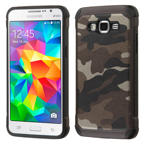 For G530 Galaxy Grand Prime Camouflage Gray Backing/Black Astronoot Case Cover