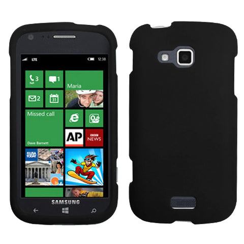 For i930 ATIV Odyssey Black Phone Protector Cover (Rubberized)