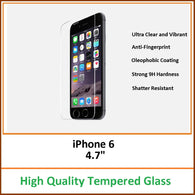 Clear Tempered Glass Screen Protector Cover 9H Hardness for iPhone 6 4.7""