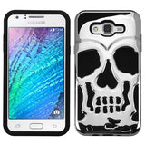 For Samsung Galaxy J7 Skullcap Hybrid Shockproof Armor Protector Cover Case