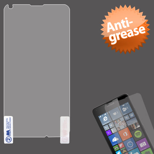 Clear Anti-grease LCD Screen Protector +cloth for Microsoft Lumia 640