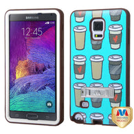 For Galaxy Note 4 Coffee Break/Brown VERGE Hybrid Protector Cover (with Stand)