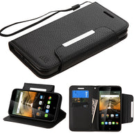 Book Style MyJacket Wallet Cover Case w/Wristlet for Alcatel One Touch Conquest