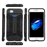 For iPhone 7 / 8 Advanced Impact Armor Stand Protector Cover Case (with Wallet)
