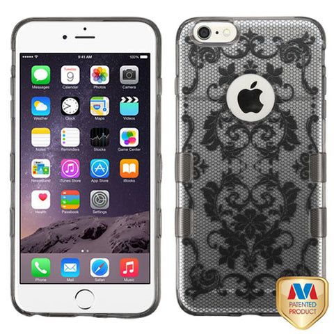 For iPhone 6S Plus/6+ Glassy Clear/Transparent Baby Black Gummy Cover