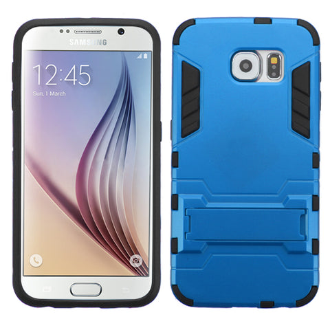 For G920 Galaxy S6 Blue/Black Iron-bear Stand Hybrid Protector Cover