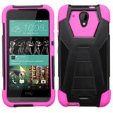 For Desire 520 Hot Pink Inverse Advanced Armor Stand Protector Cover