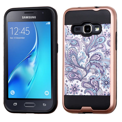 For Samsung Galaxy Luna/ Express 3/J1/Amp 2 Brushed Hybrid Armor Protector Cover