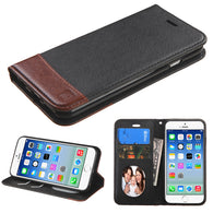For iPhone 6s/6 Black/Brown MyJacket wallet (with card slot)
