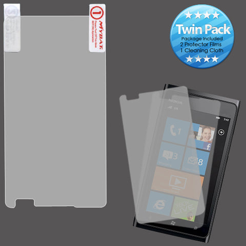 2x Clear Screen Protector Twin Pack for Nokia 900 Lumia
