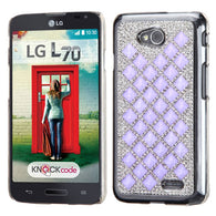 For LG Ultimate 2 Optimus L70 Desire Back Bling Hard Shell Protector Cover Case