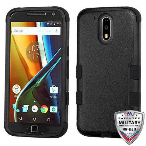 For Motorola Moto G4/G4 Plus Natural TUFF Rugged Hybrid Phone Protector Cover