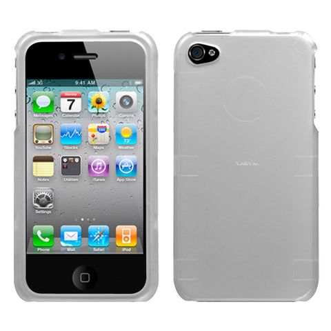 For iPhone 4s/4 Lizzo Solid Silver (2D Silver) Phone Protector Cover