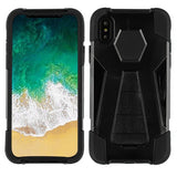 For iPhone XS/X Inverse Advanced Armor Hard Impact Stand Protector Case Cover